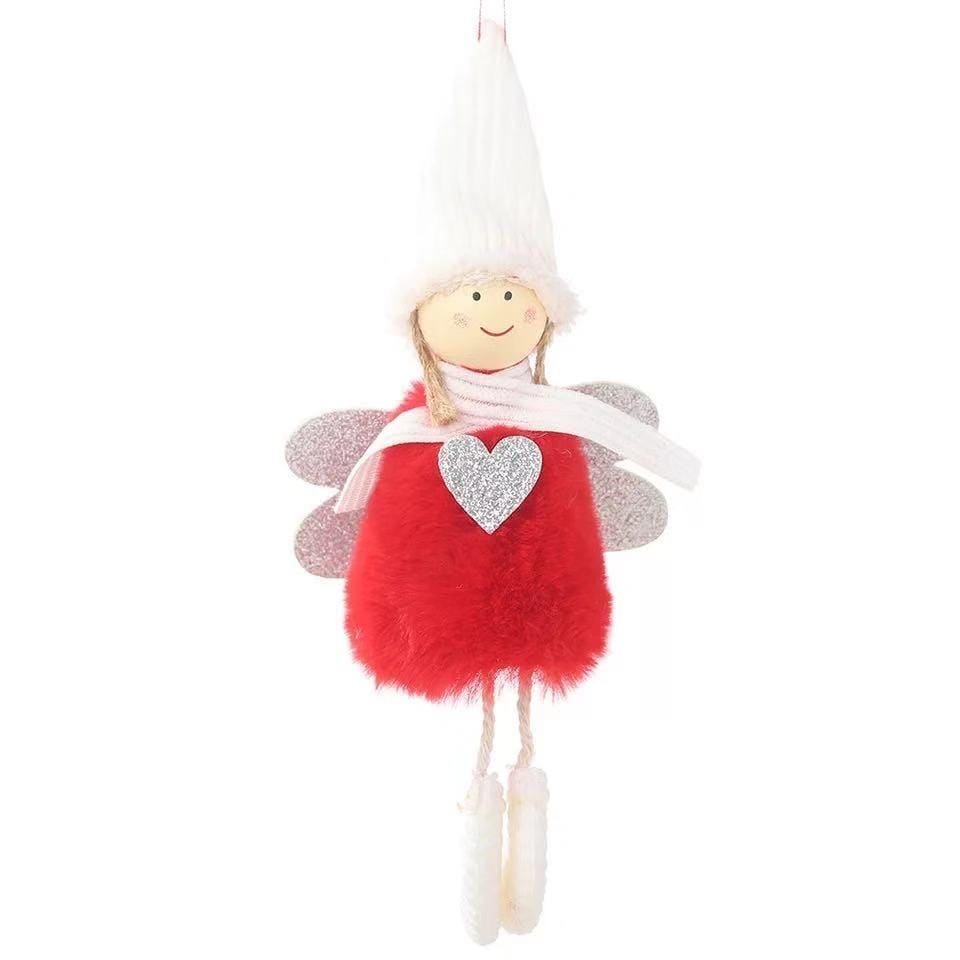 Christmas Decorations - Cute Plush Doll Pendant-2-piece set