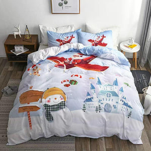 Christmas bedding - three sets of Christmas snowman