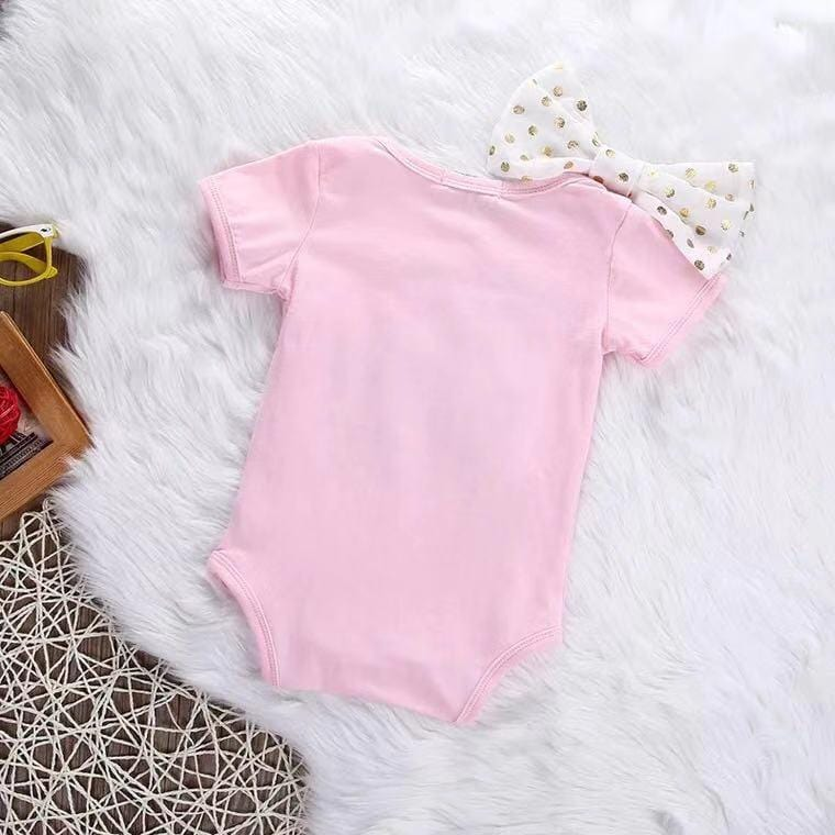 Baby short sleeve tight bodysuit