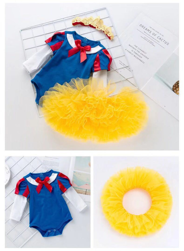 Baby girl Snow White Long Sleeve Princess Dress Set