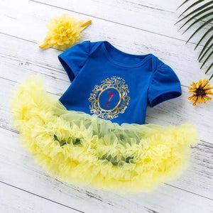Baby girl Snow White Long Sleeve Blue Princess Dress set