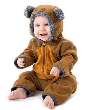 Baby Boy / Girl Animal Cartoon Bear Long Sleeve Flannel Variety Color Jumpsuit