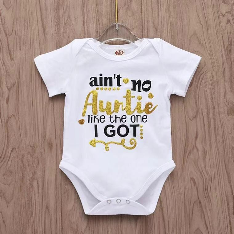 Short-sleeve Letter Bodysuit for Babies