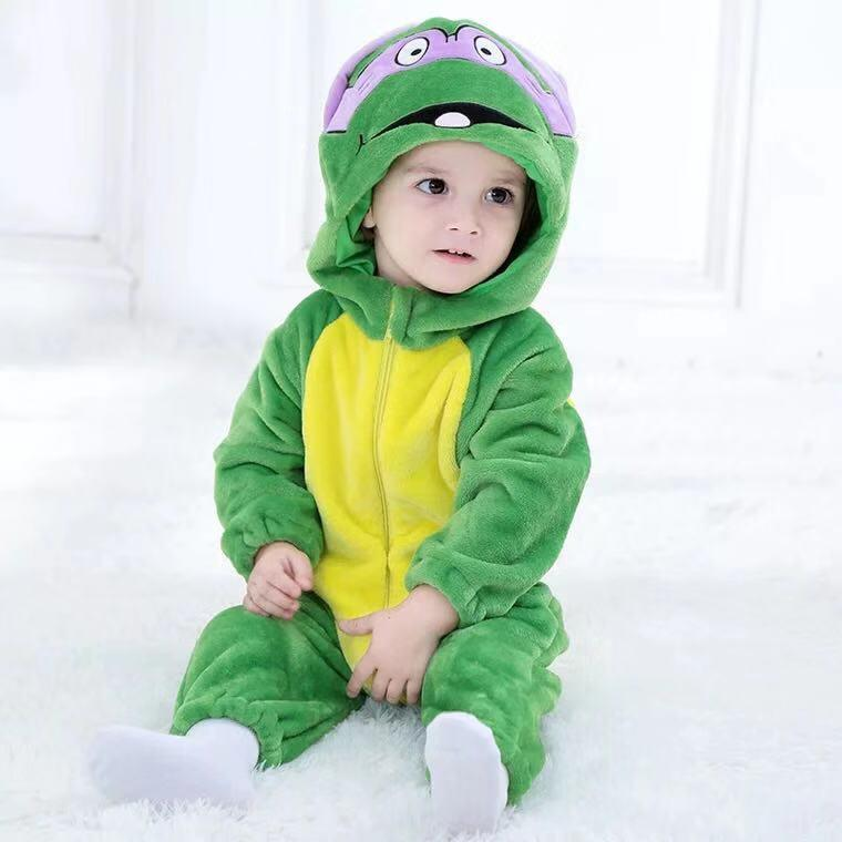 Baby Boy / Girl Cartoon Boy Turtle Jumpsuit