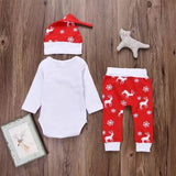 Christmas baby long sleeve suit jumpsuit