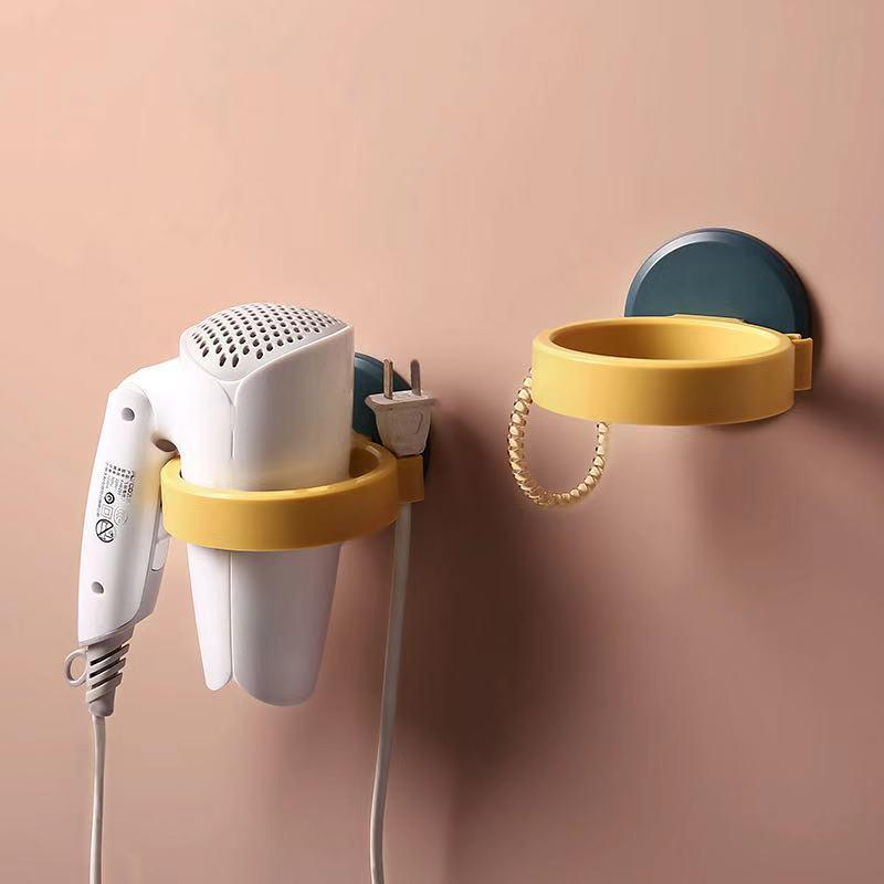 Home Bathroom Hair Dryer Strong Paste Wall Racks-Home Supplies
