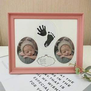 Baby Hand Foot Inkpad Watermark Photo Frame Souvenir