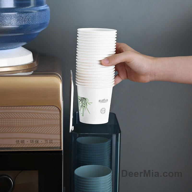 Wall-mounted disposable cup storage box-homeware
