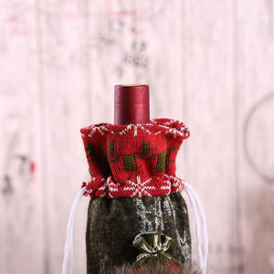 2 PCS Christmas Wine Bottle Cover-Christmas Dress Up - Christmas Gifts