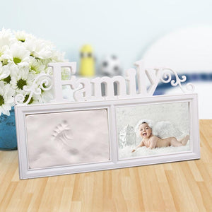 Baby Hand Inkpad Watermark Wood Photo Frame Souvenir