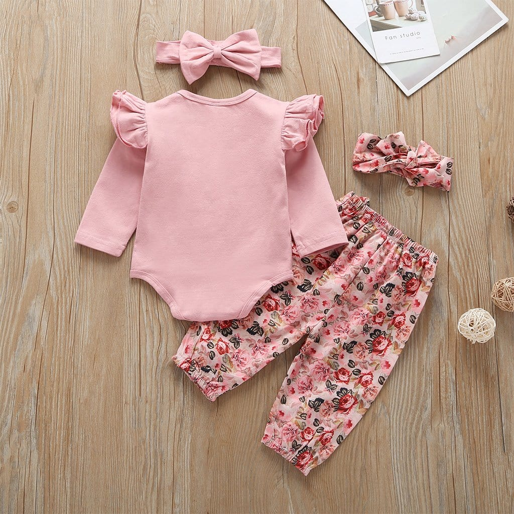 Baby girl floral long sleeve suit