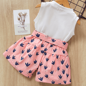 Pretty Girl Tank and Floral Shorts Set