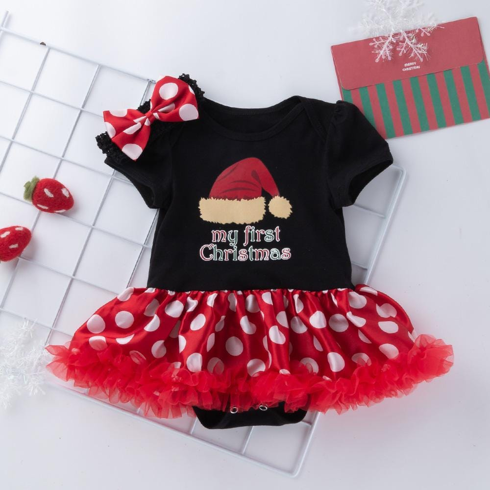 Baby Girl Christmas - My first Christmas short sleeve two piece set