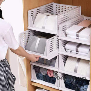 Foldable drawer design storage basket