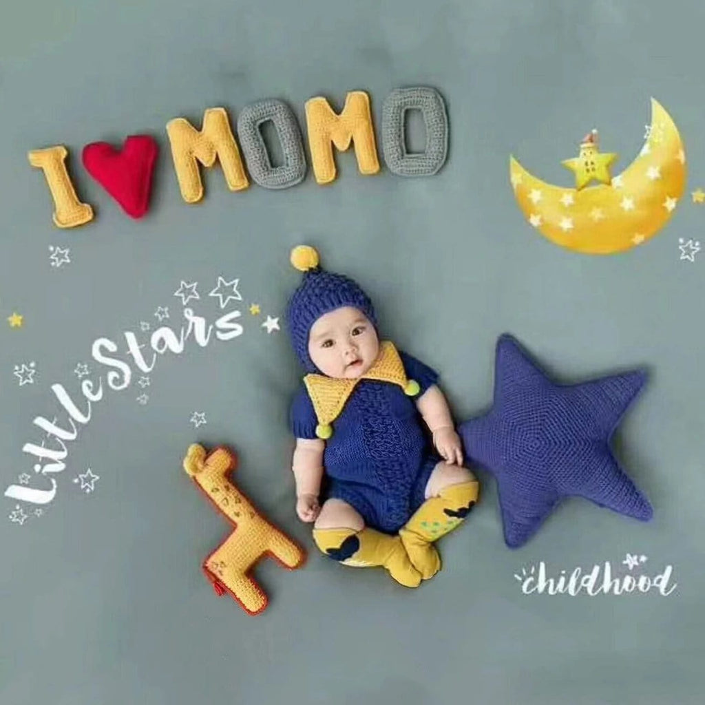 Baby Boy / Girl I love mom 100 days photography props theme set