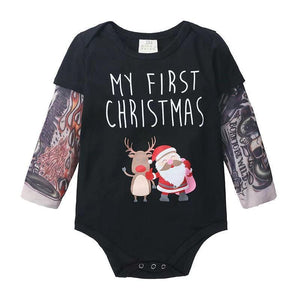 Baby Girl Christmas - My first Christmas long sleeve jumpsuit
