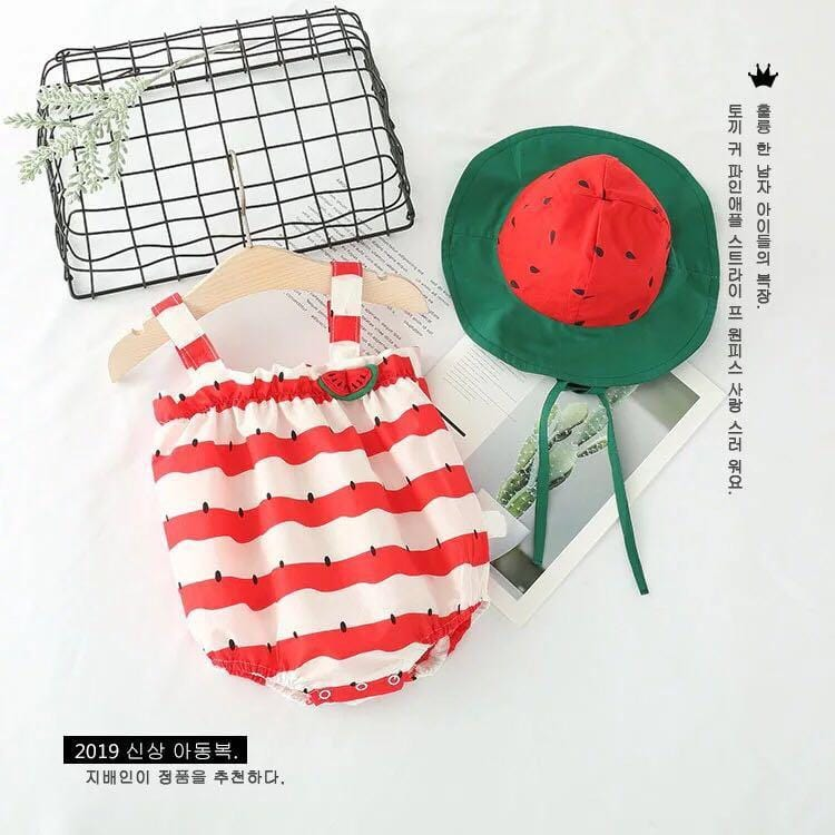 Toddler Baby Watermelon Rompers Jumpsuit Outfits Sunsuit One-pieces