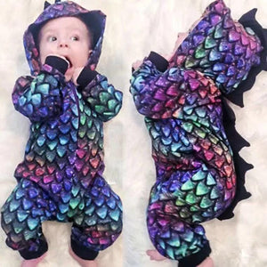 Baby Dinosaur Long Sleeve One Piece