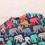 Elephant baby plus velvet jumpsuit
