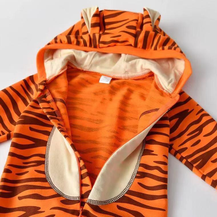 Tiger baby animal shape jumpsuit