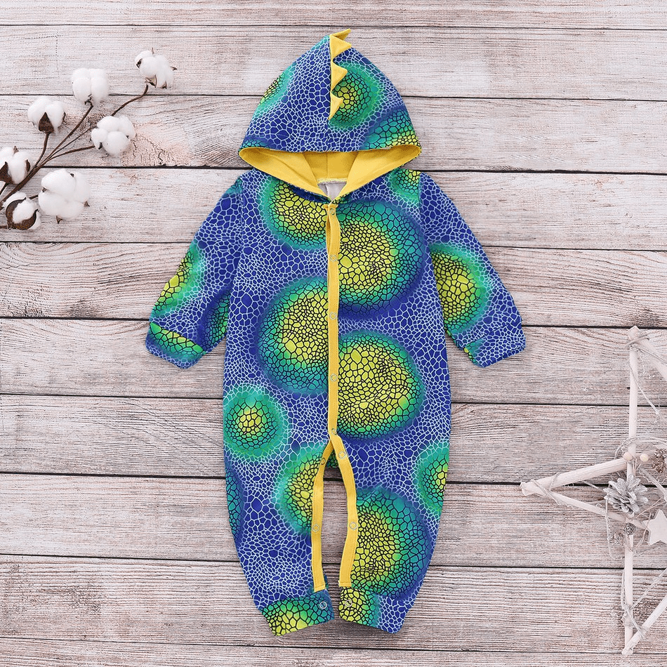 Dinosaur baby style long jumpsuit