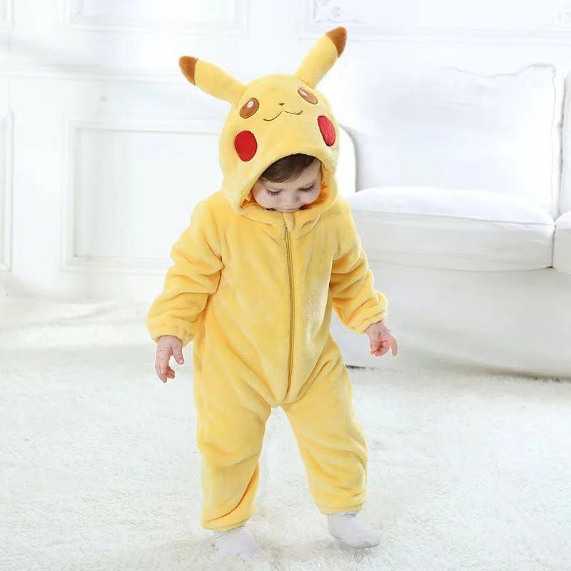 Baby variety animal shape plus velvet jumpsuit