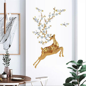 Elk 3D Sticky Wall Decor-Homeware