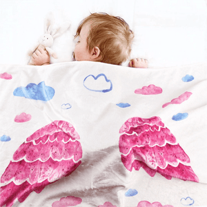 Wing Print Baby Milestone Photography Background Blanket