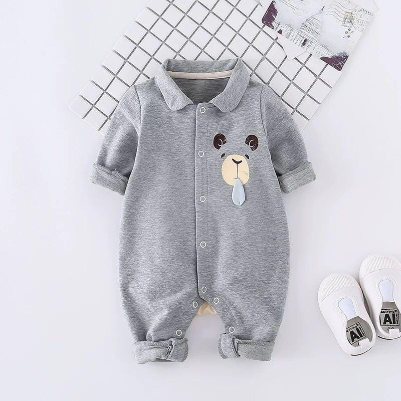 Bear baby avatar variety of color long-sleeved jumpsuit