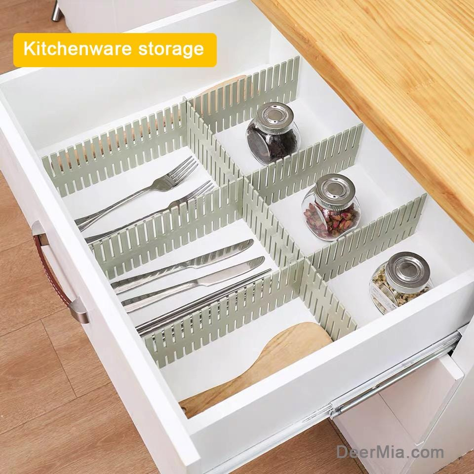 4-piece Drawer divider(Can be cut and spliced freely)
