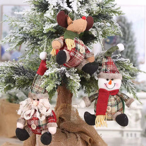 1 pieces: Christmas decorations - doll decoration pendant