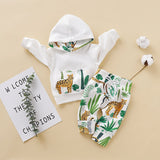 Baby Leopard Long Sleeve Hooded Set