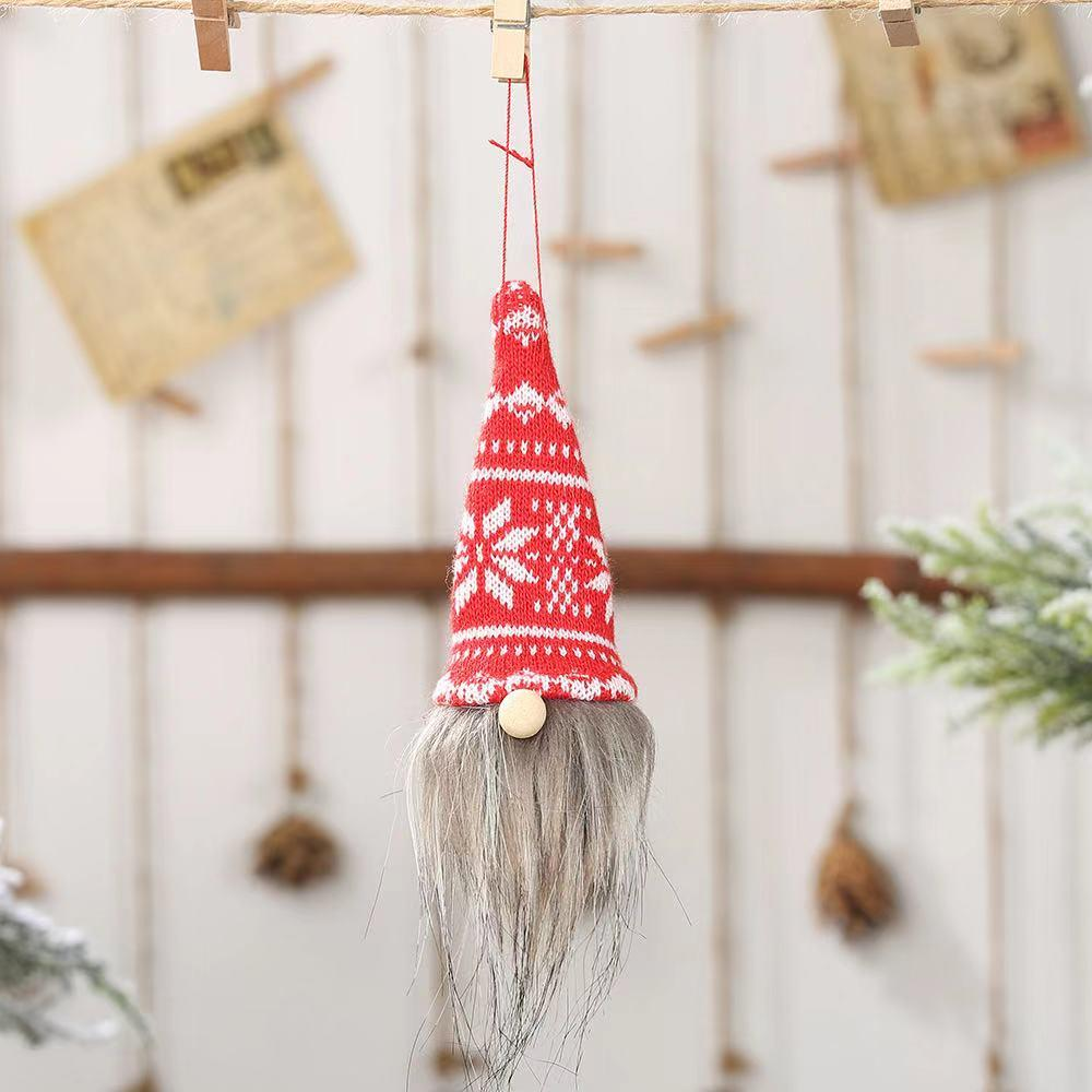 Christmas decorations - old man doll pendant