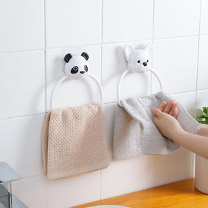 Wall-mounted towel rack