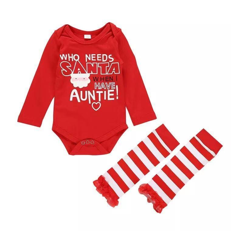 Christmas baby long sleeve jumpsuit suit