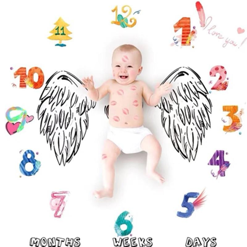 Wing Print Baby Milestone Photography Background Prop