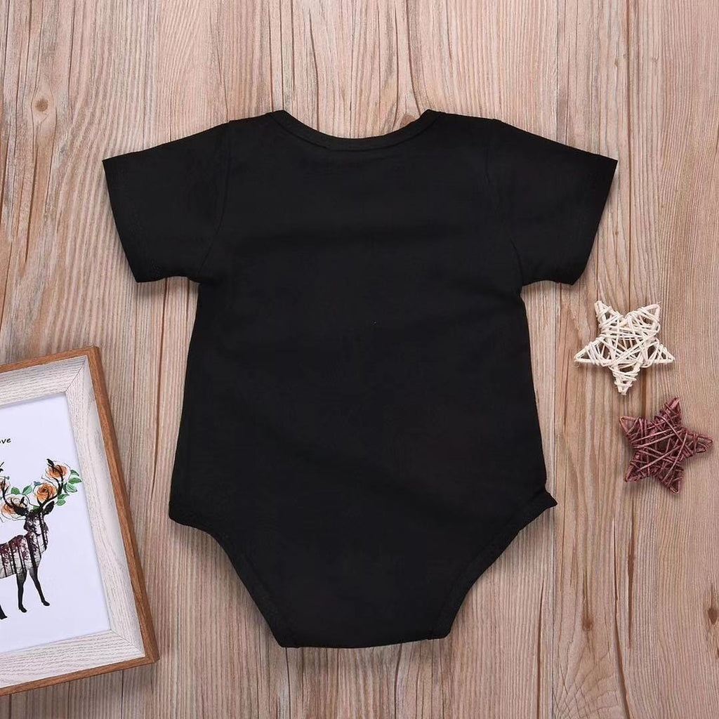 Baby Boy / Girl Letter Short Sleeve Cotton Jumpsuit