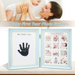 Book Design Baby's First Year Photo Frame