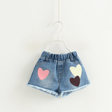 Baby/ Toddler Girl's Letter Print Flutter-sleeve Top and Heart Applique Jeans
