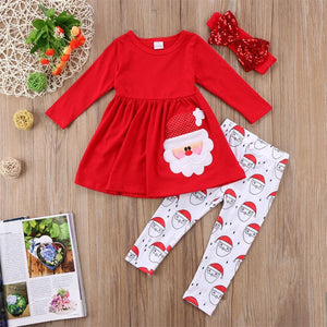 Christmas baby girl dress set
