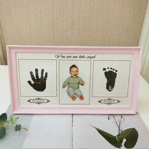 Creative DIY Baby Growing Hand and Foot Print Photo Frame