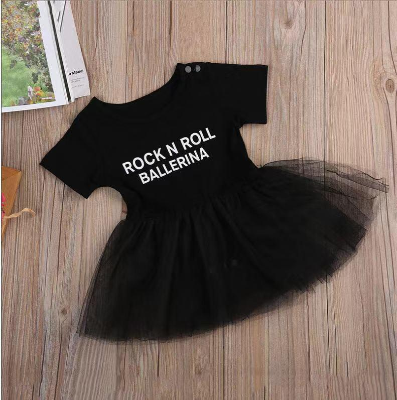 Baby Girl Short Sleeve Cotton Lace Princess Dress