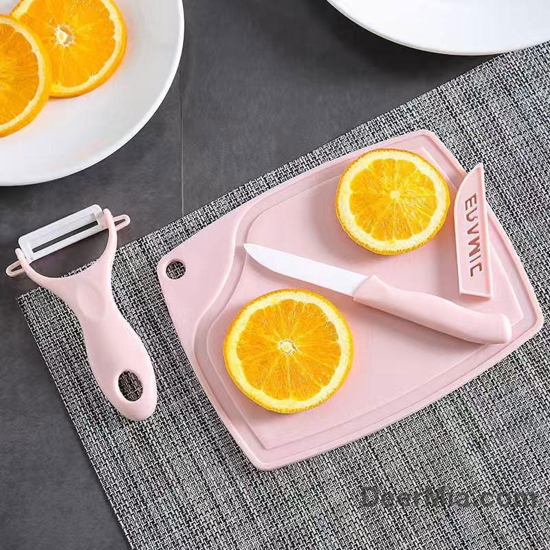 Ceramic fruit knife three-piece set-homeware