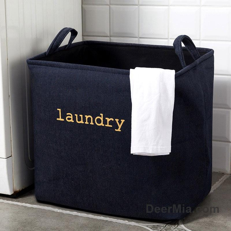 Laundry Letter Simplify Cotton and Linen Dirty Storage Hamper-Homeware