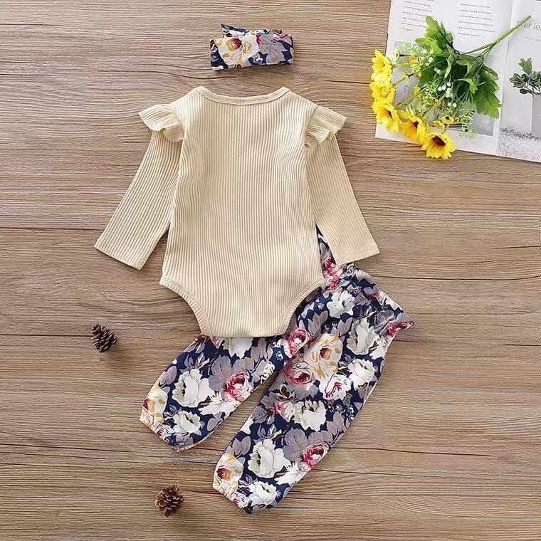 Baby Floral Long Sleeve Set