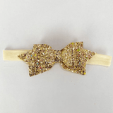 3-piece Baby/ Toddler Girl's Flower Sequined Bow Headband Set