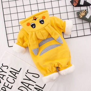 Baby baby cartoon pikachu plus velvet jumpsuit