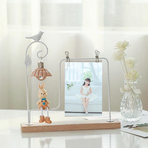 Metal wrought iron baby creative frame set souvenir