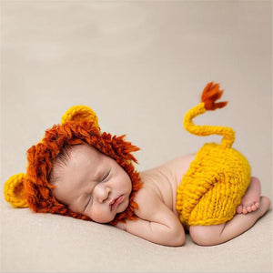 Lion King Photography Props Hat and Pants Set