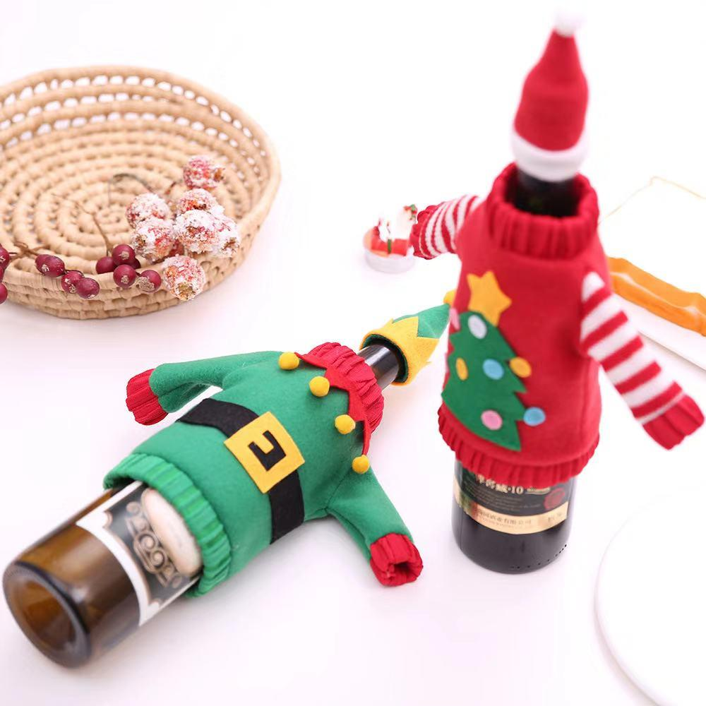 Christmas Dress Up - Christmas Gifts - Wine Bottle Set